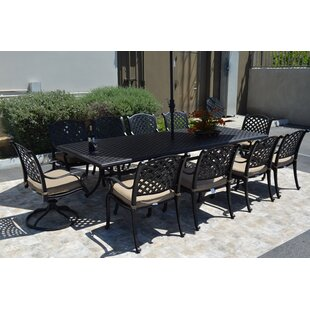 Darby Home Co Middleburgh 11 Piece Dining Set with Cushions