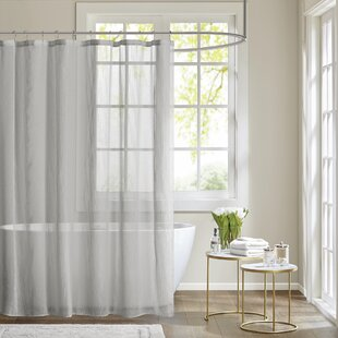 white and silver shower curtain. Save to Idea Board Modern Gray  Silver Shower Curtains AllModern
