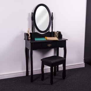 Remmington Dressing Table Set With Mirror By Marlow Home Co.