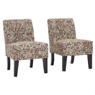 Maisonet Upholstered Slipper Chair (Set of 2)