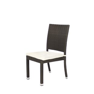 Ivy Bronx Graham Stacking Patio Dining Chair with Cushion