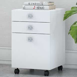 Echo 3 Drawer Mobile Vertical Filing Cabinet ByKathy Ireland Office By Bush  ...