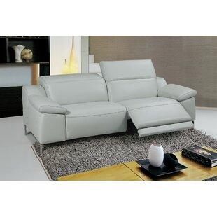 Orren Ellis Dionne Leather Reclining Sofa