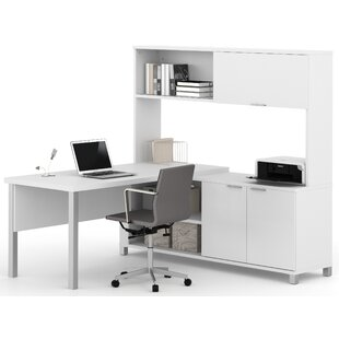 Heyworth 3-Piece L-Shape Desk Office Suite by Comm Office Great Reviews