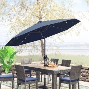 Jericho 9' Lighted Umbrella by Zipcode Design Spacial Price