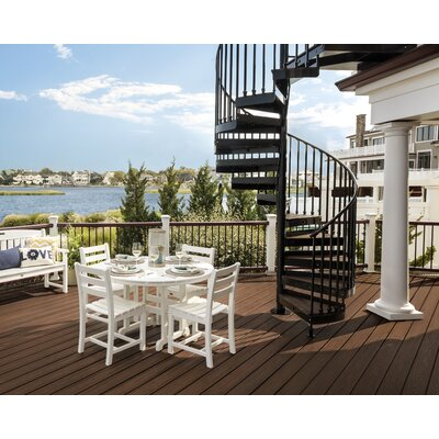 Trex Outdoor Monterey Patio Dining Chair (Set of 2) Colour: Classic White
