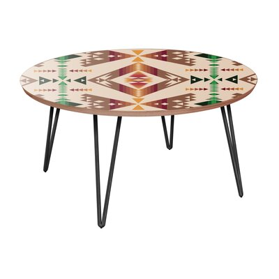 Bloomsbury Market Archdale Coffee Table  Table Base Color: Black, Table Top Color: Walnut