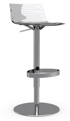 L'Eau Adjustable Height Swivel Bar Stool
