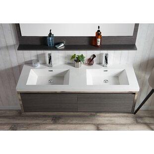 McCook 60 inch  Wall-Mounted Double Bathroom Vanity Set (Set of 2)