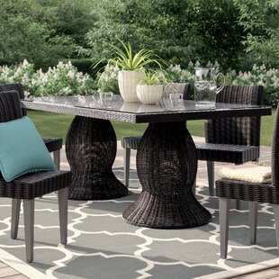 Fairfield Glass Dining Table by Sol 72 Outdoor