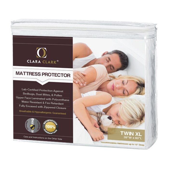 clara clark bed bug proof encasement / premium hypoallergenic