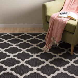 Castle Heights Black/Cream Rug