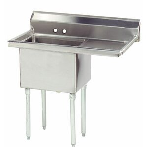 Economy 38 5 X 23 75 Single Fabricated Bowl Scullery Sink
