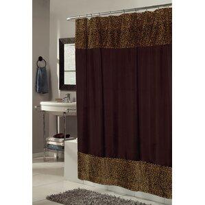 Sheena Faux Fur Trimmed Shower Curtain