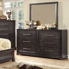 Peterson 6 Drawer Dresser with Mirror by Hokku Designs