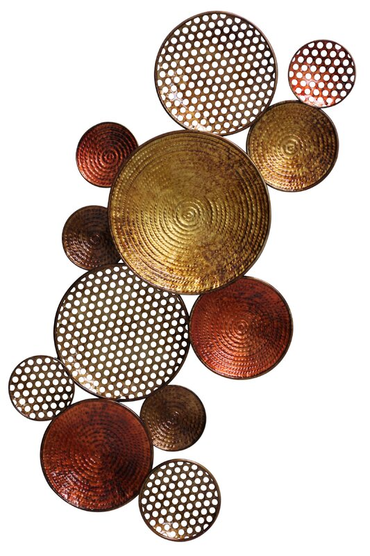 Metal Circle Wall Decor world menagerie metal circle wall décor & reviews | wayfair