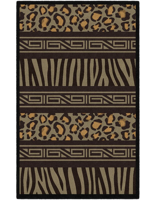 World Menagerie Lanier Animal Print Black/Brown Area Rug, Size: Rectangle 76 x 10