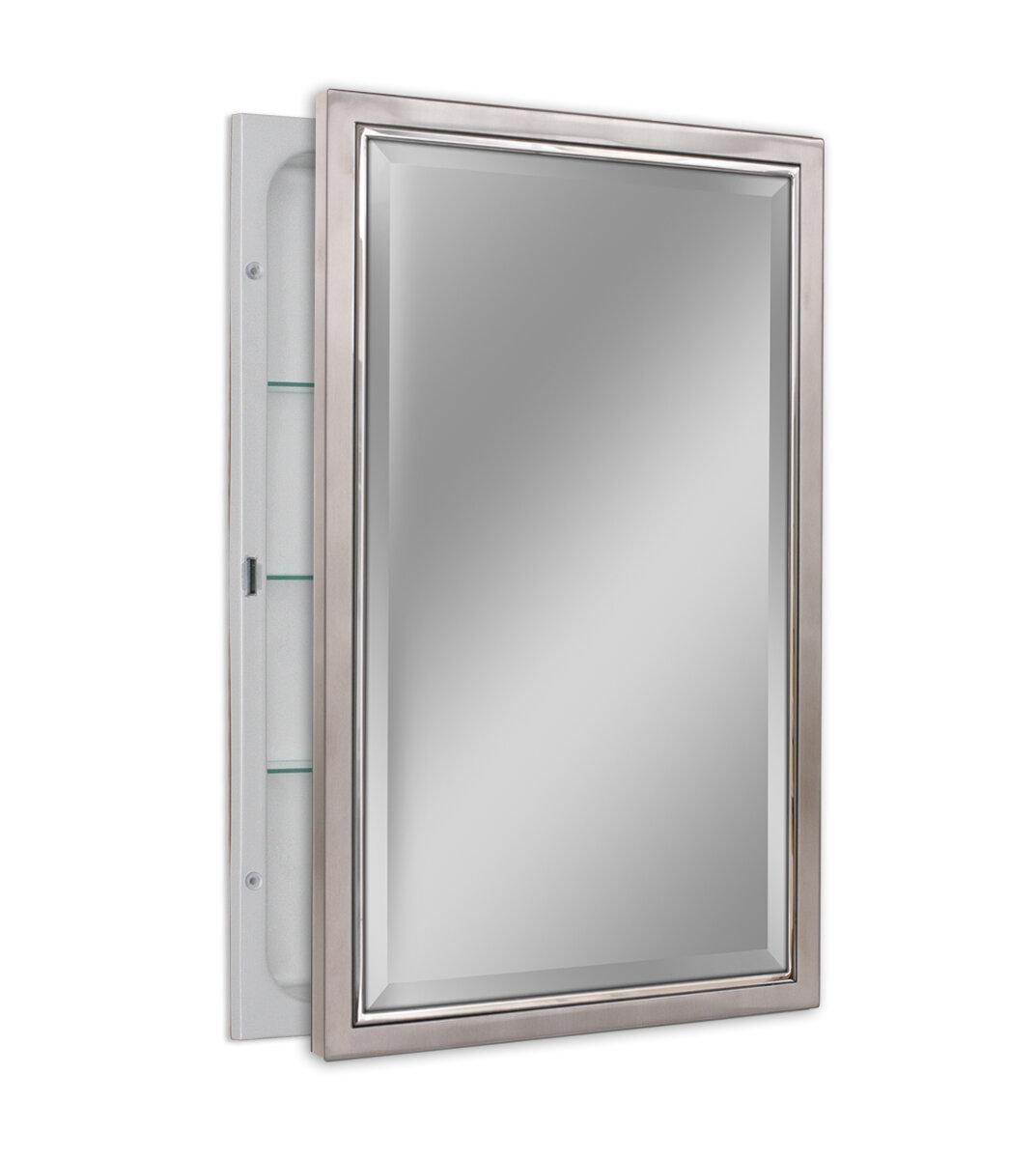 Congdon 16 X 26 Recessed Framed Medicine Cabinet With 3 Adjule Shelves