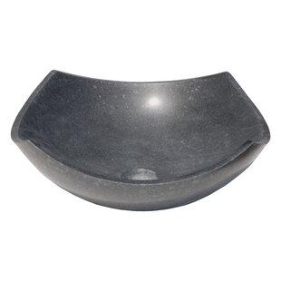 Find for Arched Edges Bowl Honed Basalt Square Vessel Bathroom Sink ByEden Bath