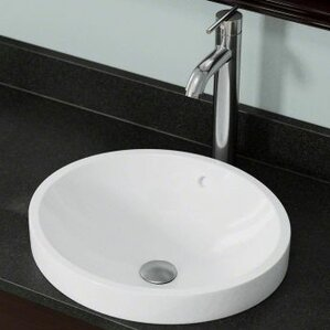 Porcelain Circular Vessel Bathroom Sink