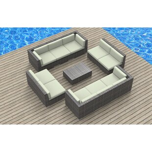 Urban Furnishings 11 Piece Sectional Set with Cushions