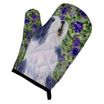 East Urban Home Bearded Collie Hearts Love Portrait Potholder Wayfair