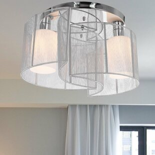 2 Light Flush Ceiling Light & Flush Bathroom Ceiling Light | Wayfair.co.uk