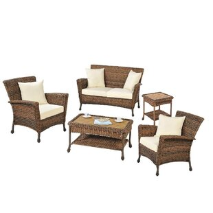 Langston 5 Piece Sofa Seating Group with Cushions