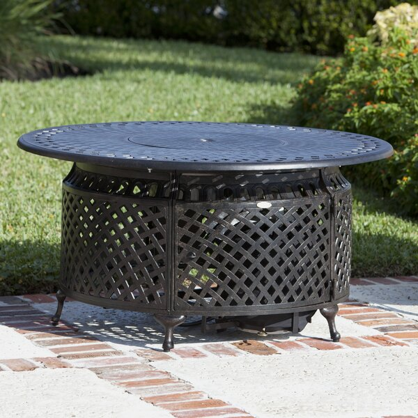 Fire Sense Venza Cast Aluminum Propane LPG Fire Pit Table U0026 Reviews |  Wayfair