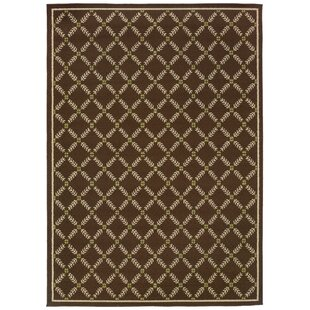 Barboza Brown/Ivory Indoor/Outdoor Area Rug