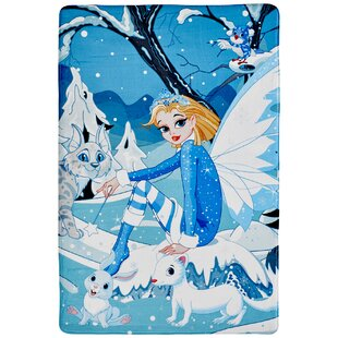 My Fairy Tale Blue/White Rug by Obsession