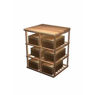 Wine Cellar Innovations Designer Series 6 Case Double Deep 60 Bottle Floor Wine Rack Wood Type: All-Heart Redwood, Finish: Unstained