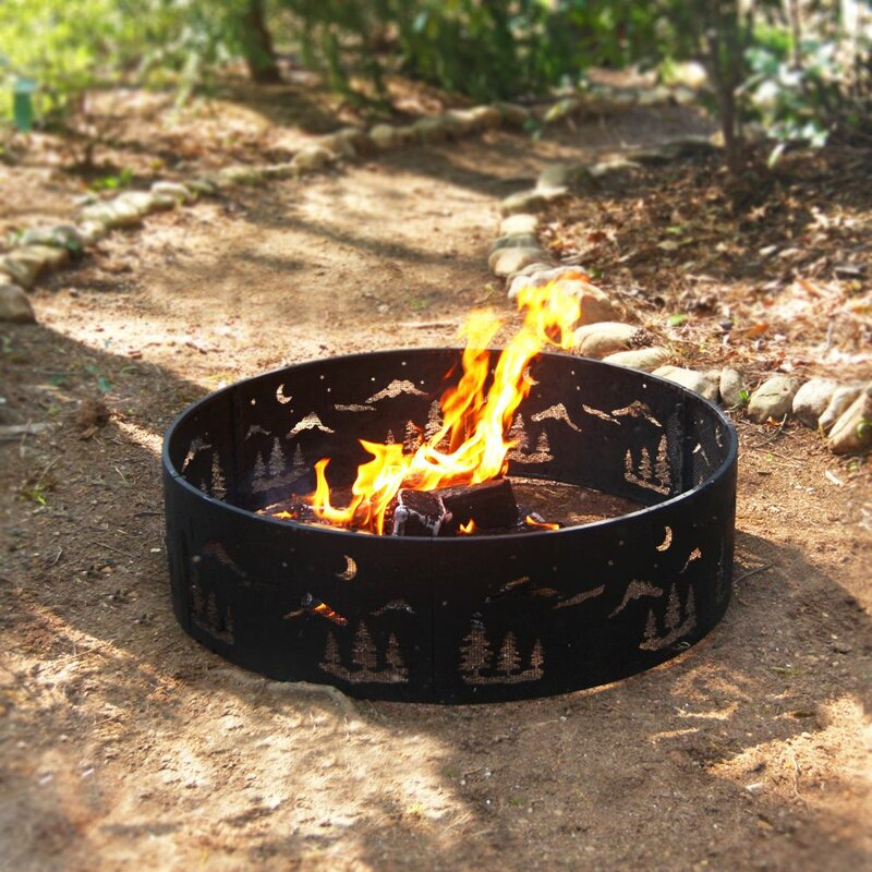 Wilderness Steel Wood Burning Fire Ring