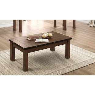 Dahlia Wooden Coffee Table by Millwood Pines
