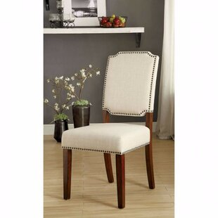 Krouse Wooden Upholstered Dining Chair (Set of 2) Alcott Hill
