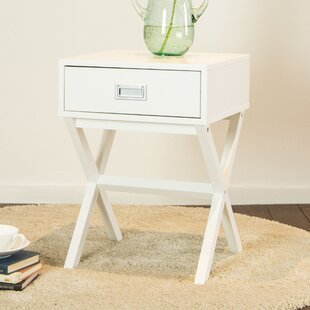 Wrought Studio Arbuckle Wooden X-Shape End Table with Storage