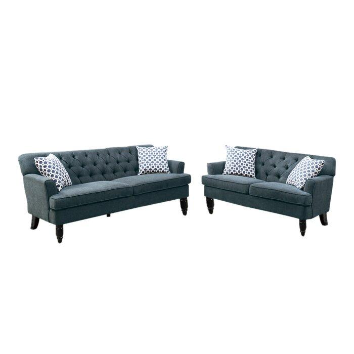 Miraculous Lagasse Velveteen 2 Piece Living Room Set Machost Co Dining Chair Design Ideas Machostcouk