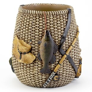 Avanti Linens Rather Be Fishing Waste Basket