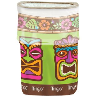 Amscan Summer Luau Tiki Fling 13 Gallon Trash Can