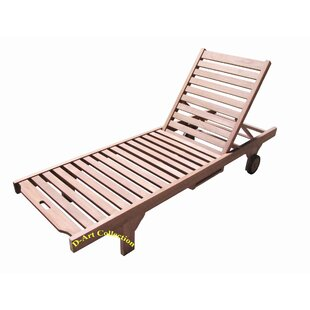 Reclining Teak Chaise Lounge