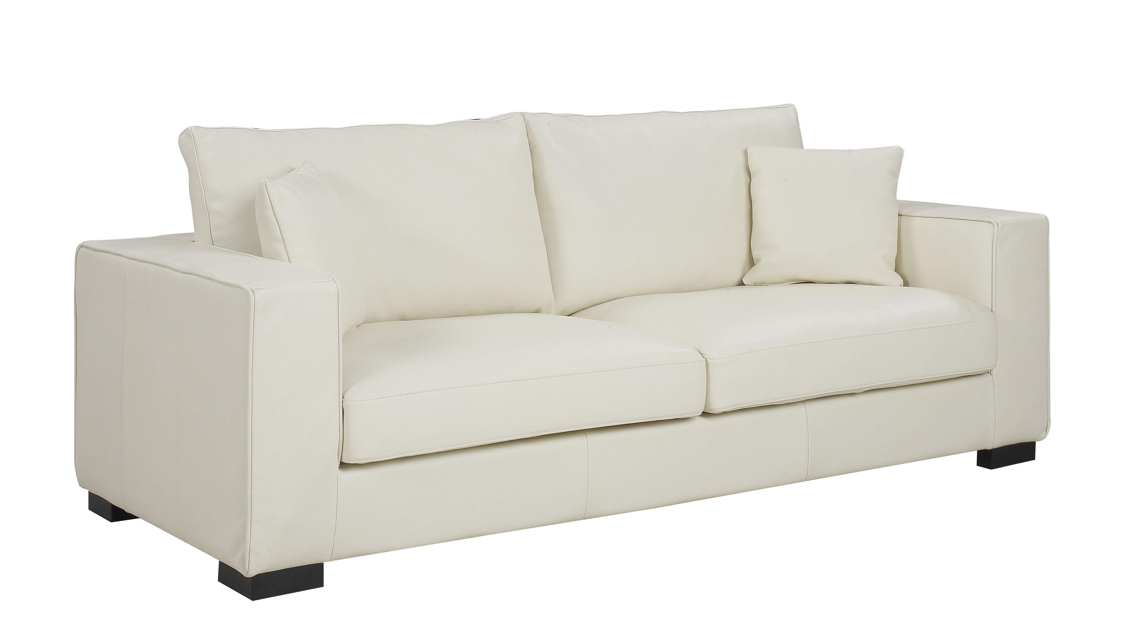Orren Ellis Leka Large Modern Top Grain Leather Sofa | Wayfair