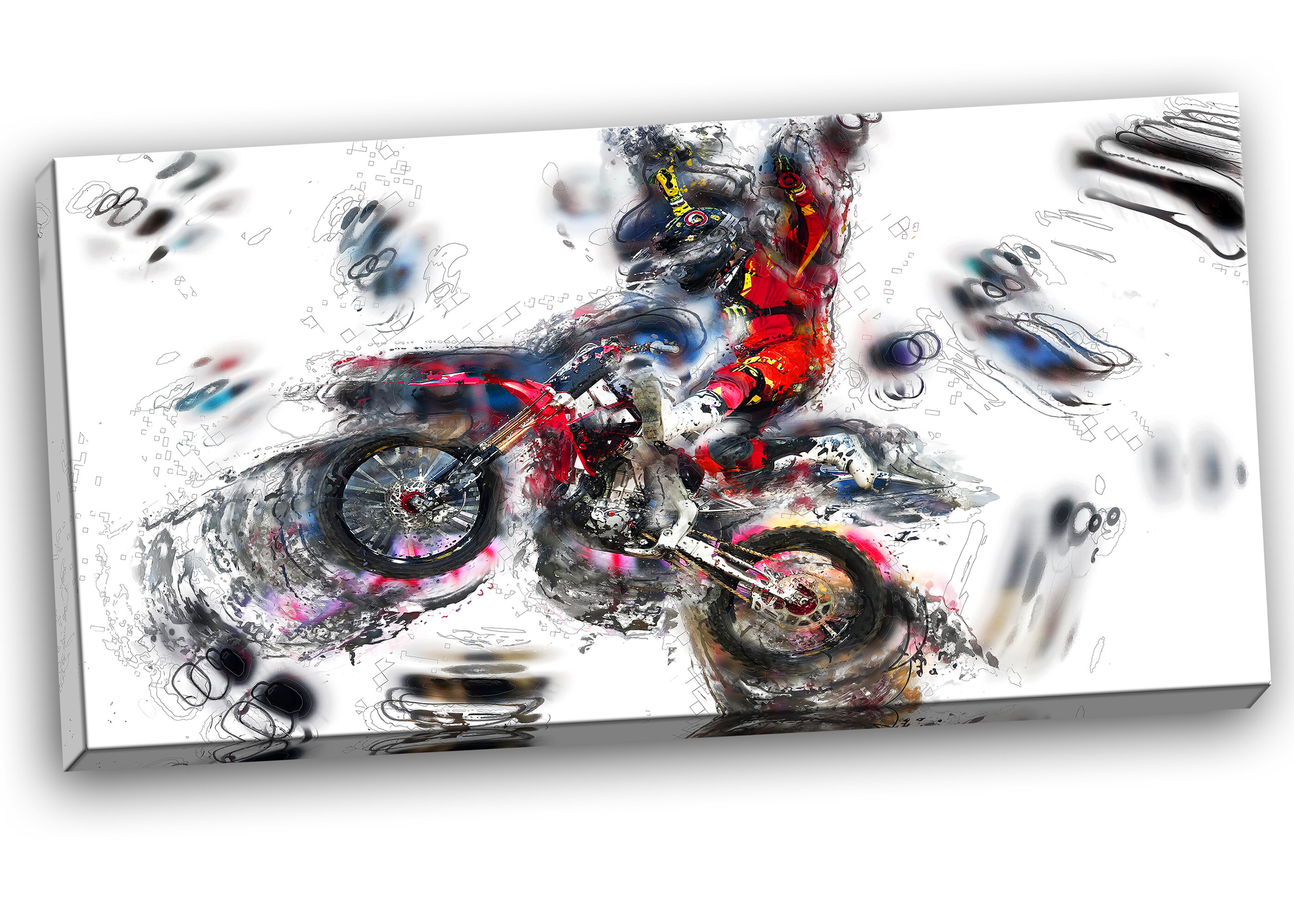 Designart Moto Cross Sports Graphic Art On Wrapped Canvas Wayfair