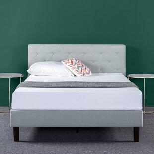 House of Hampton Agnese Diamond Stitched Upholstered Platform Bed