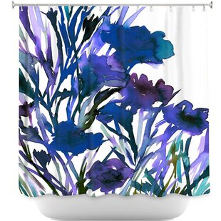 Petal Thoughts Single Shower Curtain by DiaNoche Designs Savings