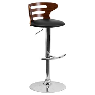 Wade Logan Catina Adjustable Height Swivel Round Seat Bar Stool