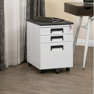 Find Elora 3-Drawer Office Storage Vertical Filing Cabinet by Symple Stuff