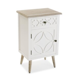Foxx 1 Drawer Bedside Table By Bloomsbury Market