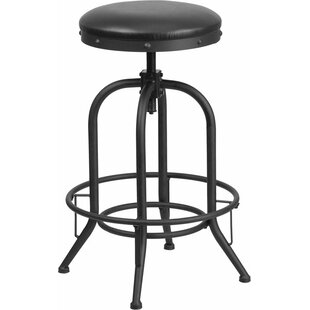 Hatchell Adjustable Height Swivel Bar Stool by Williston Forge