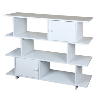 3 Tier Wood Geometric Bookcase by Home Basics SKU:EC436164 Description