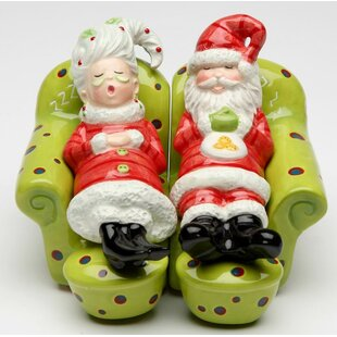 Mrs.Claus and Santa Chilling Out 2-Piece Salt and Pepper Set